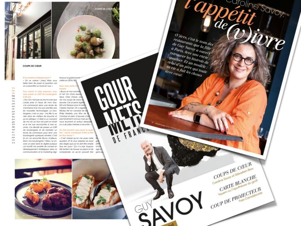 article sur Guy Savoy dans Gourmets de France