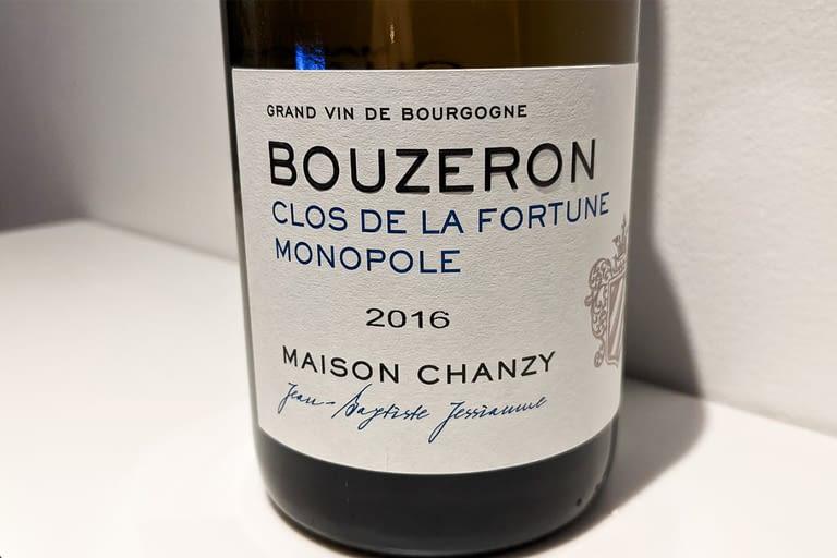 Bouzeron %22Clos de la fortune monopole%22 2016 Maison Chanzy.jpg