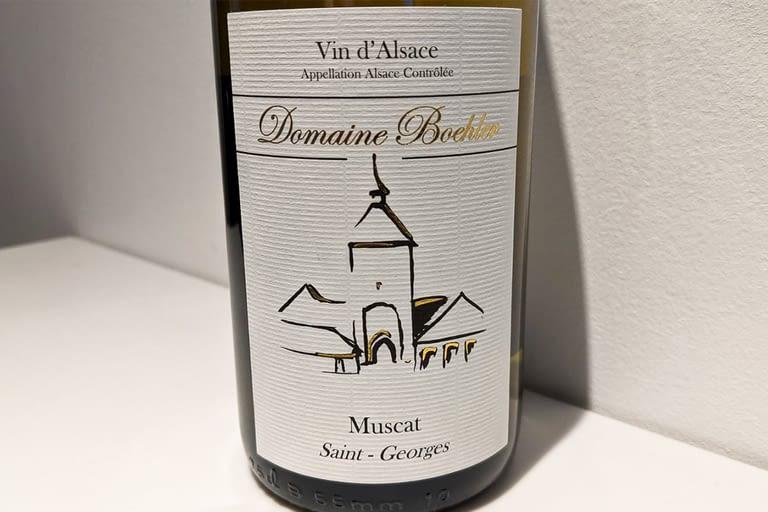 Muscat %22Saint-Georges%22, Domaine Boehler 2017.jpg