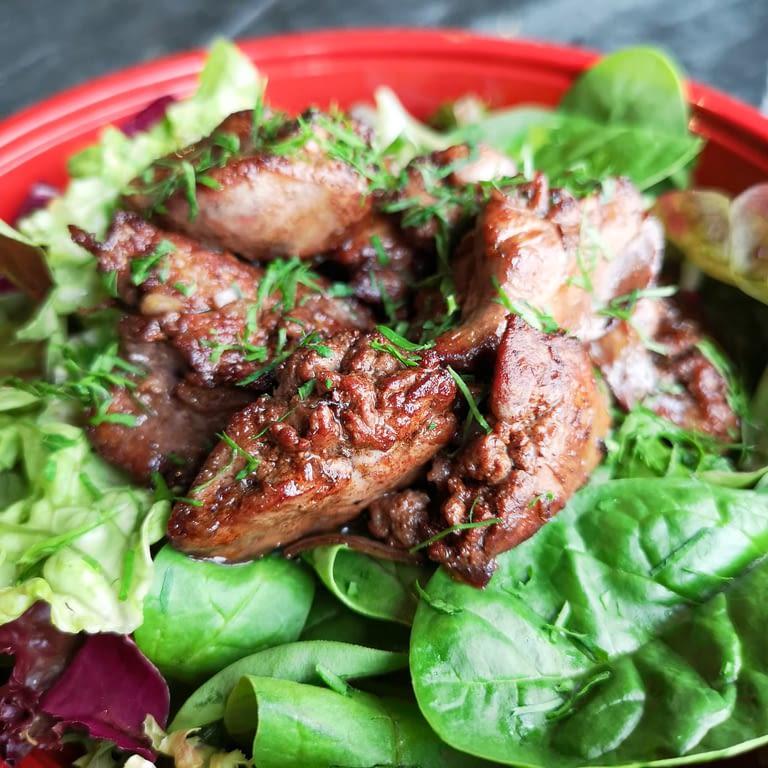 Saladier de foies de volaille et sauce vinaigrette foies de volaille-2.jpg